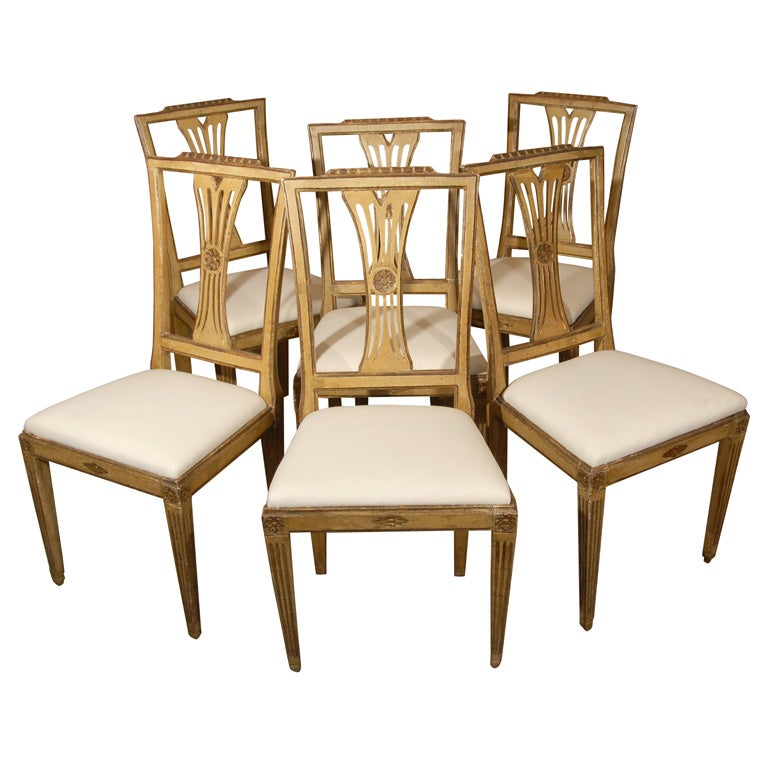 Painted Italian Dining Chairs at 1stdibs : x from 1stdibs.com size 768 x 768 jpeg 66kB