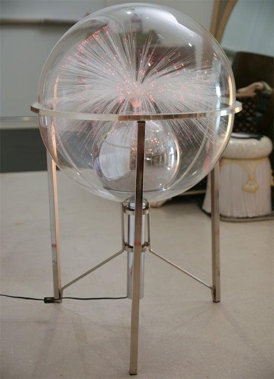 Fiber Optic Globe Sculpture At 1stdibs