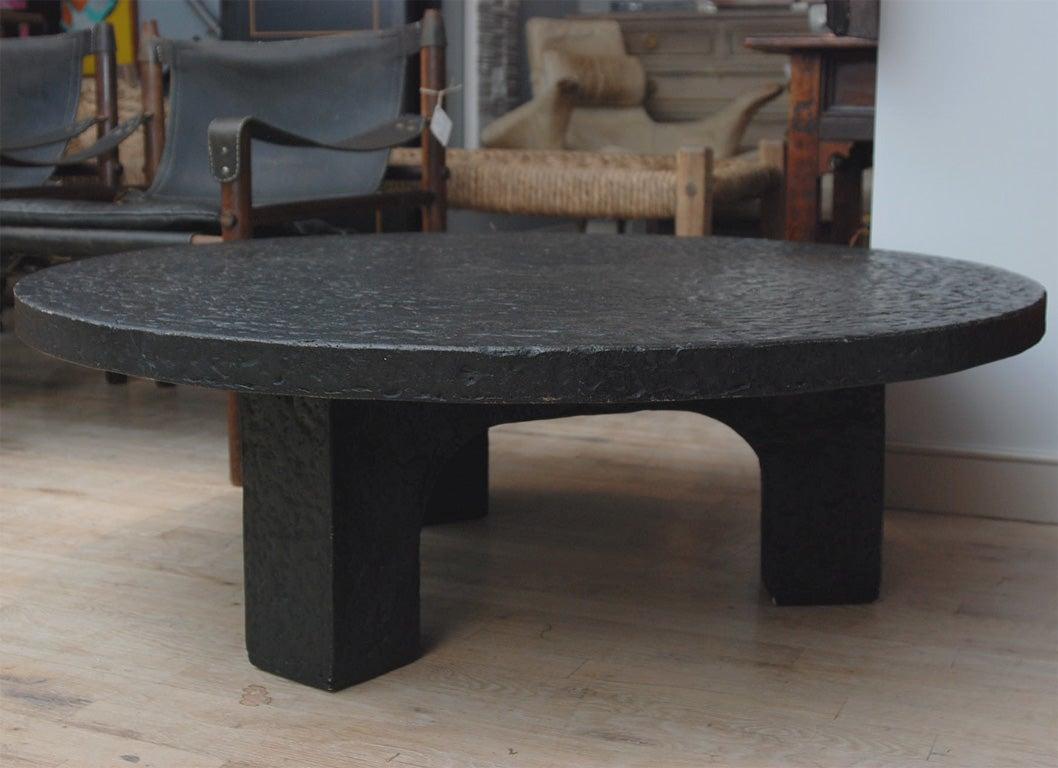 Black Granite Round Table At 1stdibs