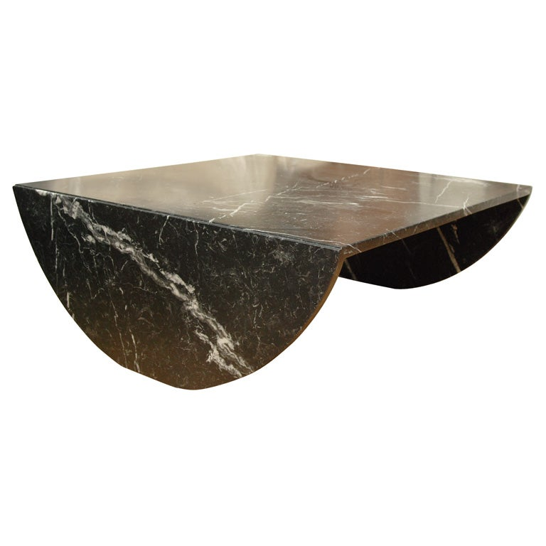 Black Marble Coffee Table At 1stdibs