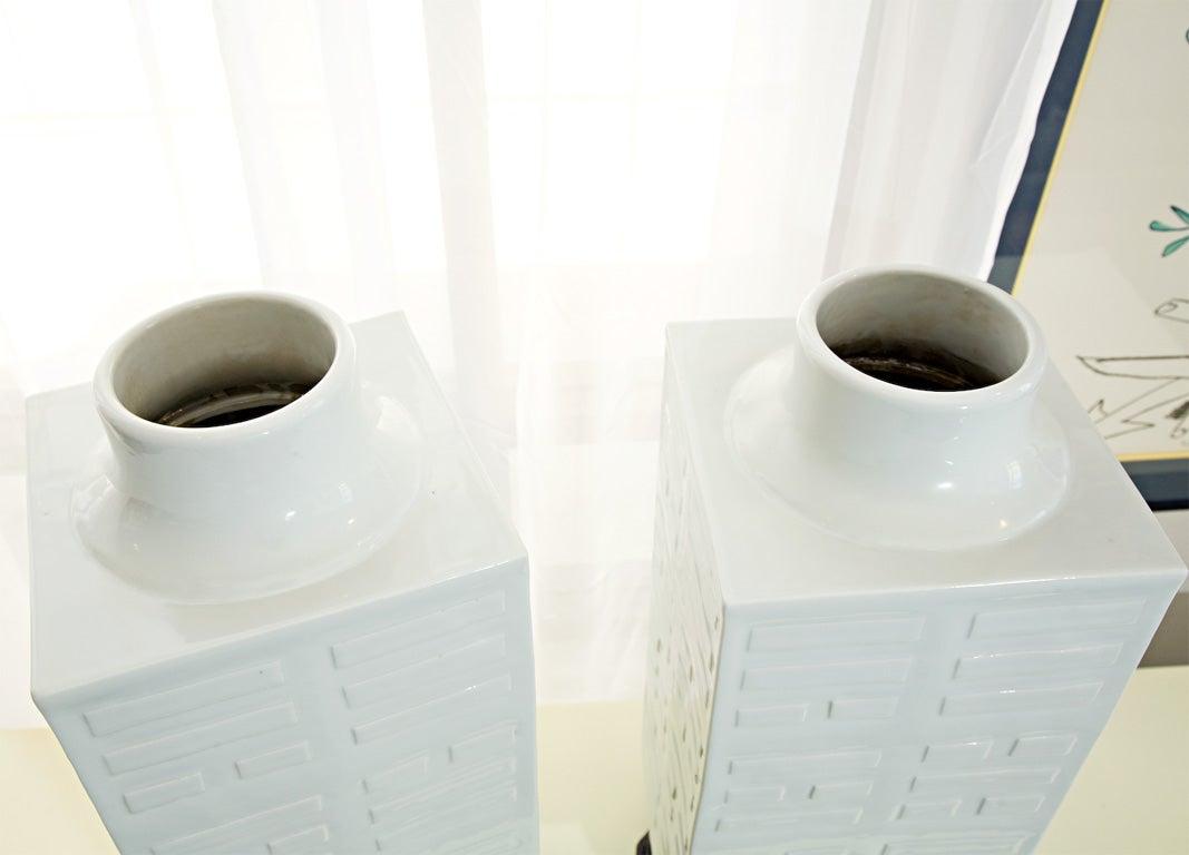 blanc de chine congr vases at 1stdibs. Black Bedroom Furniture Sets. Home Design Ideas