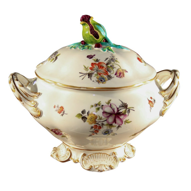 French Botanical Soup Tureen At 1stdibs