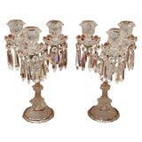 Pair French Crystal Candelabra (Candelabres)