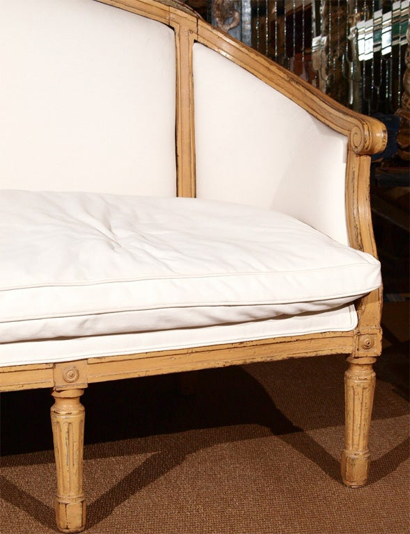 French 18th Century Louis XVI Piedmontese Canape For Sale