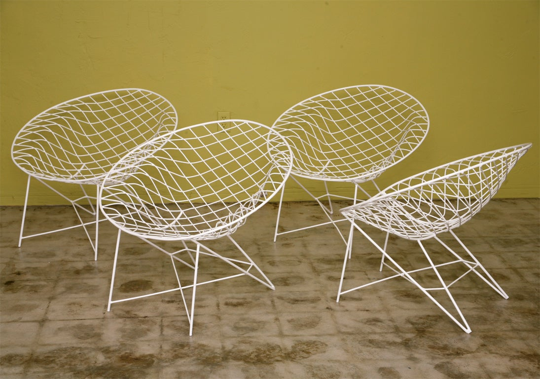 American Fab 50s Wire  Lounge Chairs
