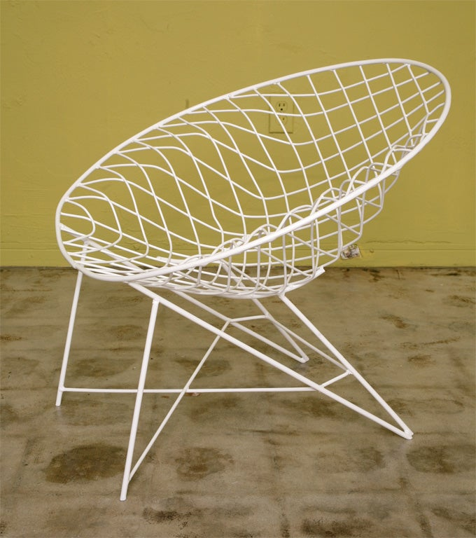 Lacquered Fab 50s Wire  Lounge Chairs