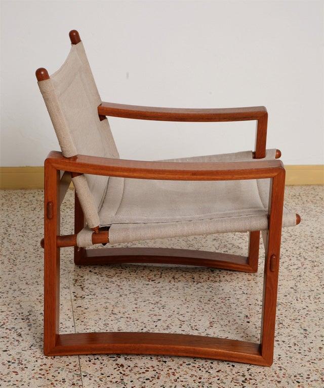 Danish Teak Sling Chair 10
