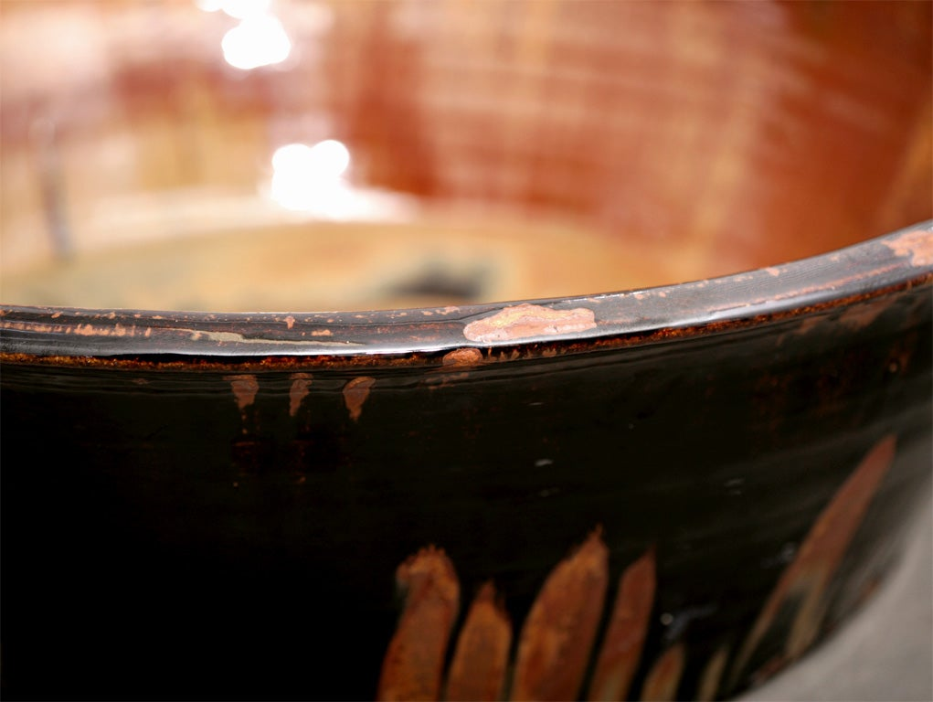 Contemporary American Hand Thrown, Fired and Glazed Artisan Bowl/Charger In Excellent Condition For Sale In East Hampton, NY