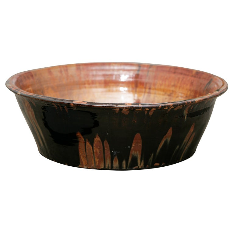 Contemporary American Hand Thrown, Fired and Glazed Artisan Bowl/Charger For Sale