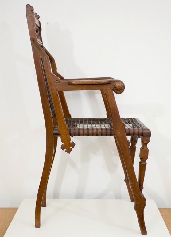 19th Century George Hunzinger Arm Chair For Sale