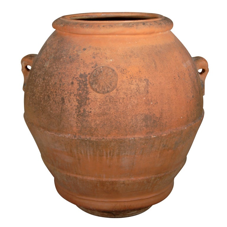 Pair Of Italian Terracotta Olive Jars At 1stdibs