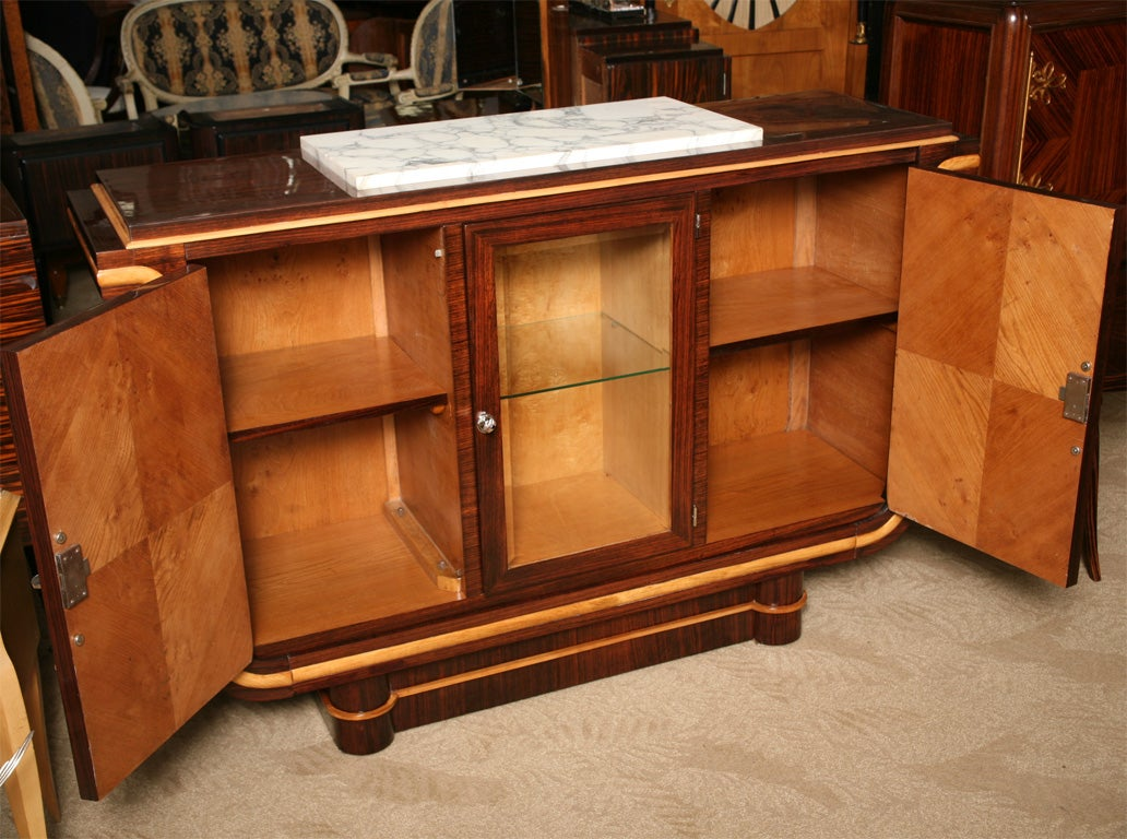 French art deco tulip form buffet vitrine sideboard at for Sideboard vitrine