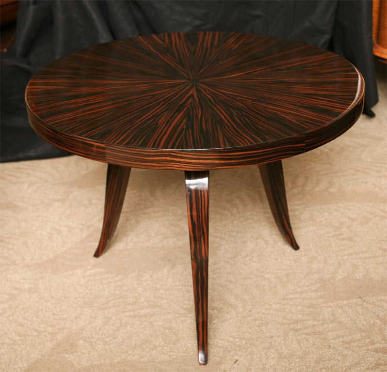 French Art Deco Exotic Macassar Ebony Coffee/ Accent Table 2