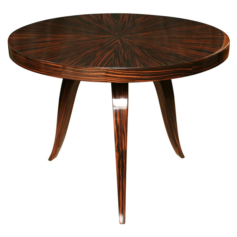 French Art Deco Exotic Macassar Ebony Coffee Accent Table At 1stdibs