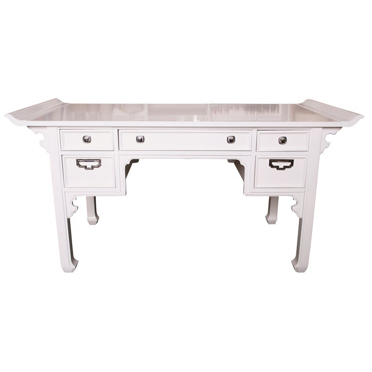Oriental style lacquered desk at 1stdibs for Oriental style desk