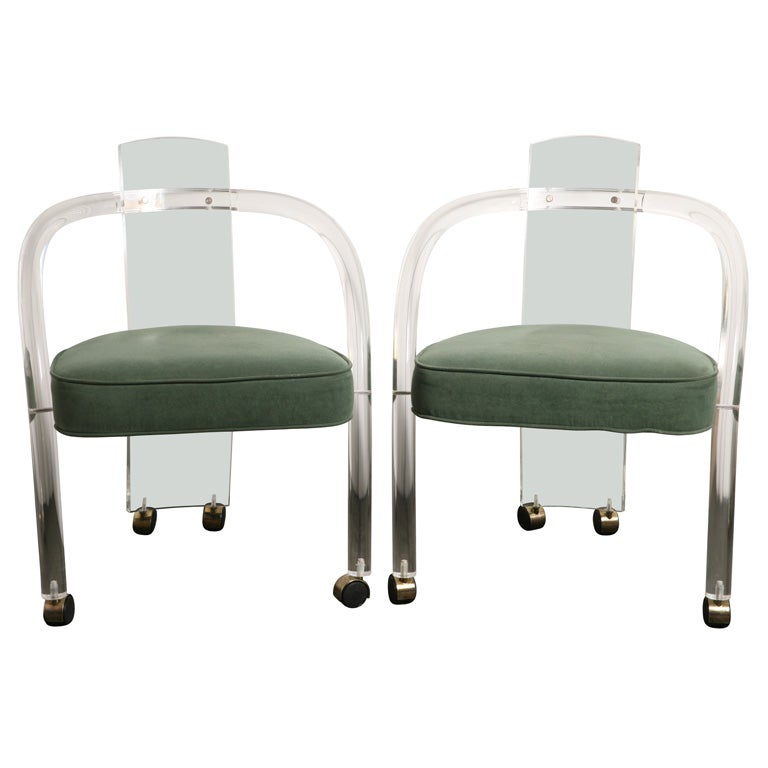 Oak dining room chairs - This Pair Of Lucite Chairs Is No Longer Available