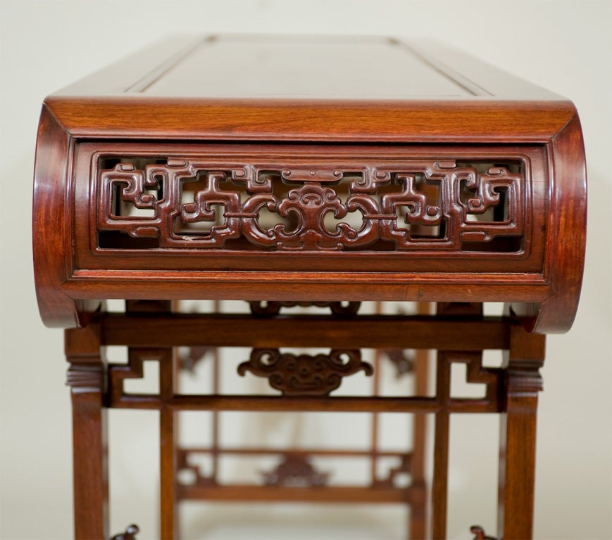 Foyer Console Quest : A chinese carved padoukwood table at stdibs