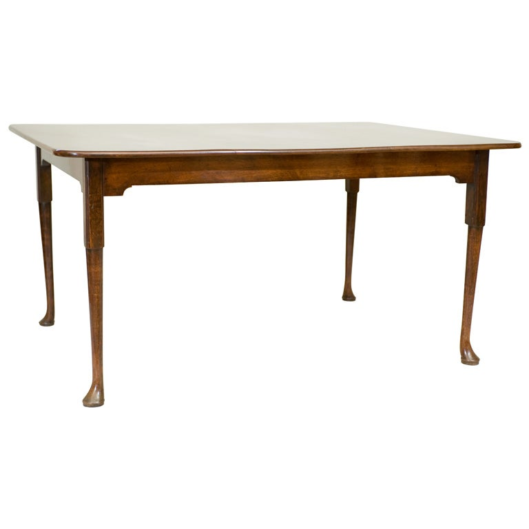english queen anne period red walnut dining table for sale