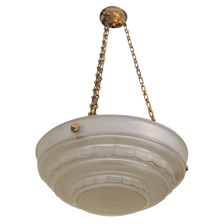 Art Deco Chandelier by Sabino For Sale