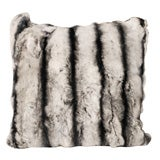 Double-sided faux Chinchilla  Rabbit Fur Pillows