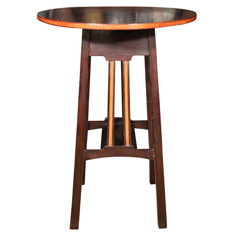 English arts and crafts inlaid side table at 1stdibs for Arts and crafts side table