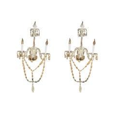 PAIR Regency Style Two Light Scones - CHOICE!