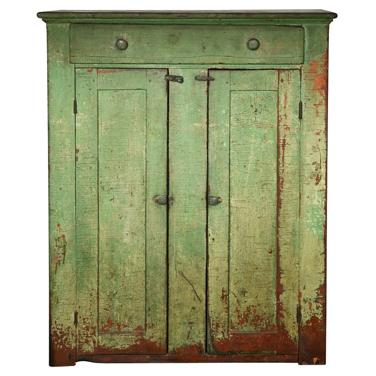 19thc Original Green Painted Jelly Cupboard At 1stdibs