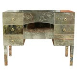 Mirrored Vanity with Antique Glass