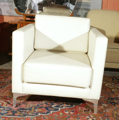 Pair of 1970's Milo Baughman Lounge Chairs image 2