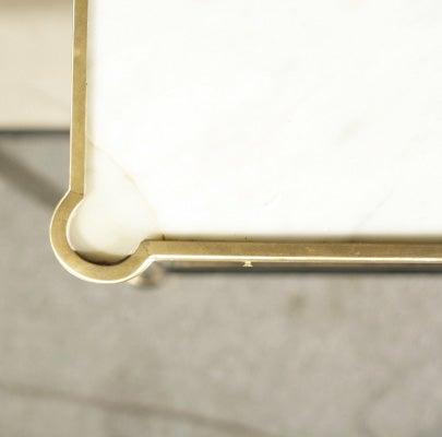 Pair Jansen Ebonized Marble Top Nightstands 2
