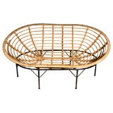 Faux Rattan Oval Lounge Chair
