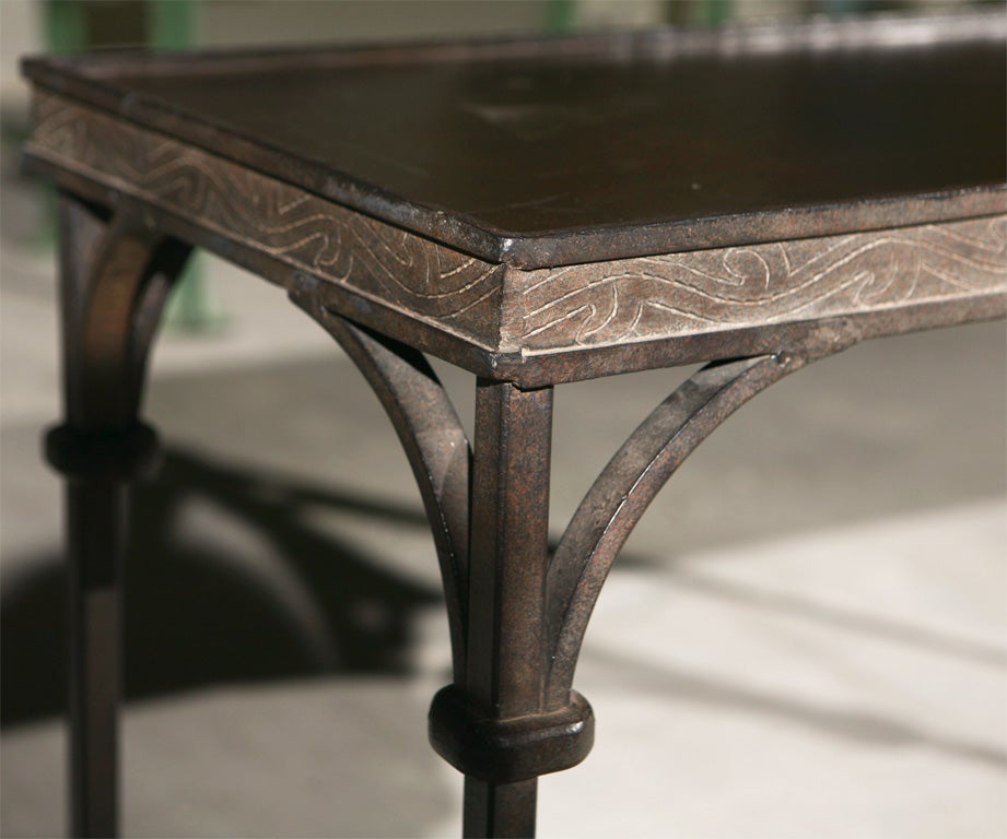 Wrought Iron Console Table At 1stdibs