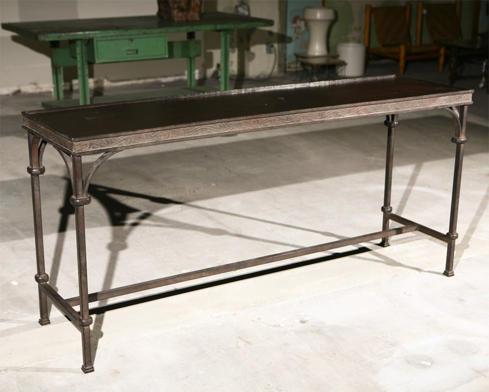 Iron Console Table : Wrought Iron Console Table at 1stdibs