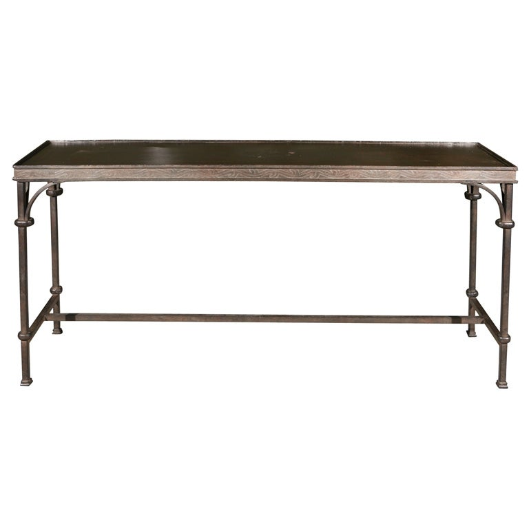 for Wrought iron sofa table base