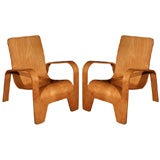 One Bent Plywood Lounge Chair by Hans Pieck