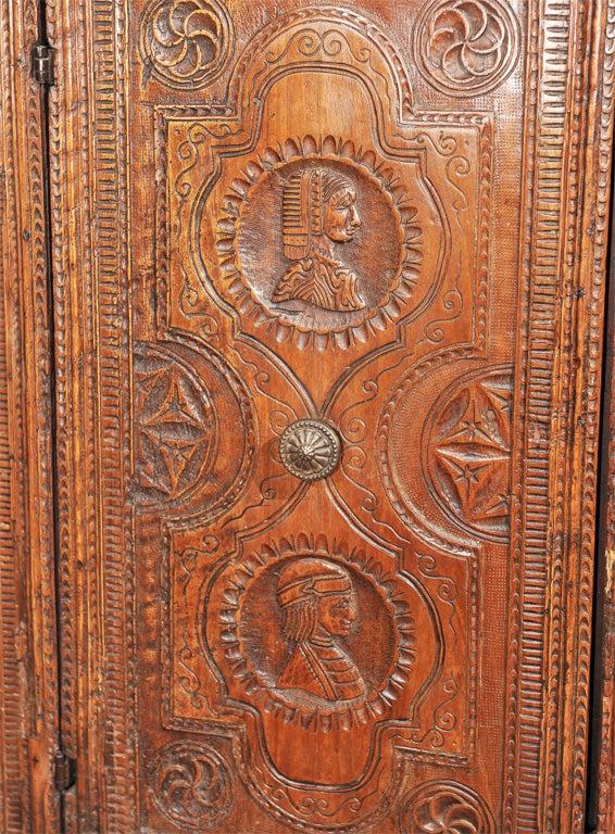 Chip carved credenza at stdibs