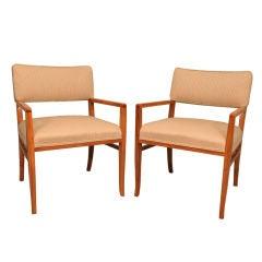 Rare Set of Four Custom Designed Armchairs by T. H. Robsjohn-Gibbings