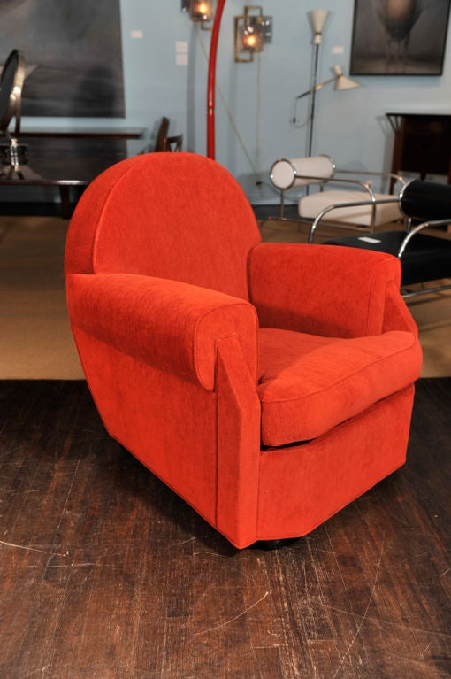 Sculptural Club Chair by Vittorio Valabrega In Excellent Condition For Sale In New York, NY
