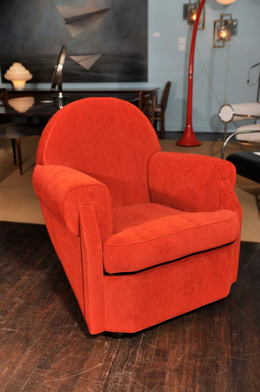 Mid-20th Century Sculptural Club Chair by Vittorio Valabrega For Sale