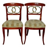 * 01414 A SET OF 4 FRENCH NEO-CLASSIC DINING CHAIRS