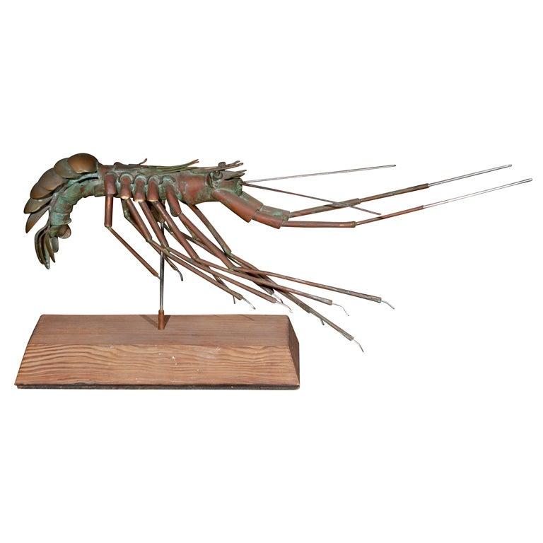 Kevin Brereton metal lobster sculpture , signed at 1stdibs
