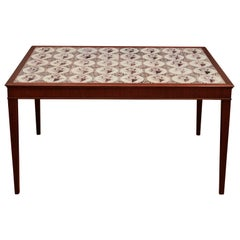 Decorative Tile Cocktail Table by Frits Henningsen