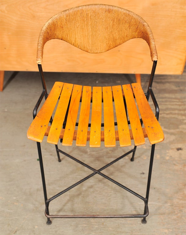 Pair Of Bar Stools By Arthur Umanoff At 1stdibs