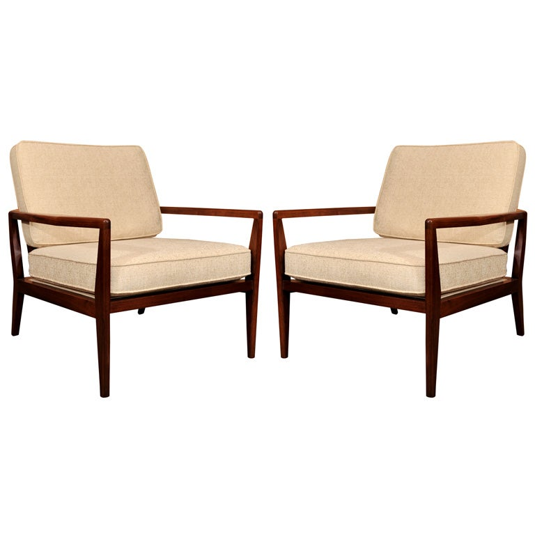 Pair of Teak Lounge Chairs by Selig at 1stdibs