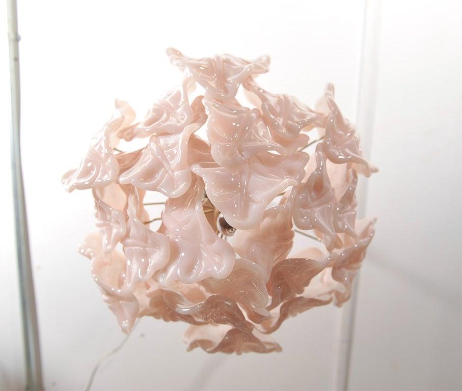 Italian Art Glass Chandelier At 1stdibs