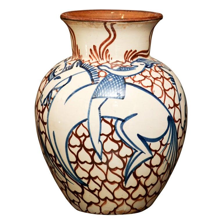 art deco pottery vase at 1stdibs. Black Bedroom Furniture Sets. Home Design Ideas