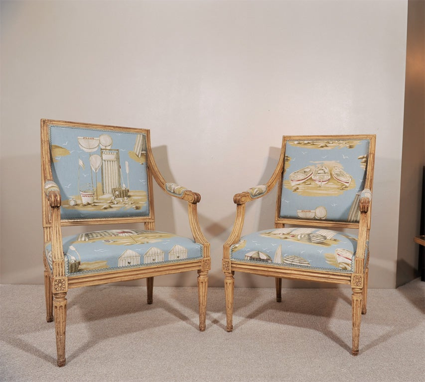 Pair of Louis XVI Style Fauteuils 2