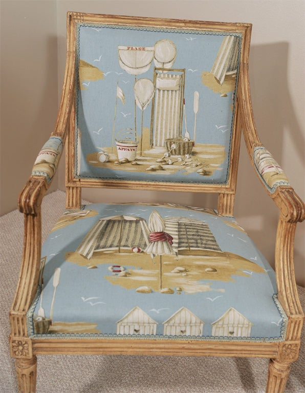 Pair of Louis XVI Style Fauteuils 3