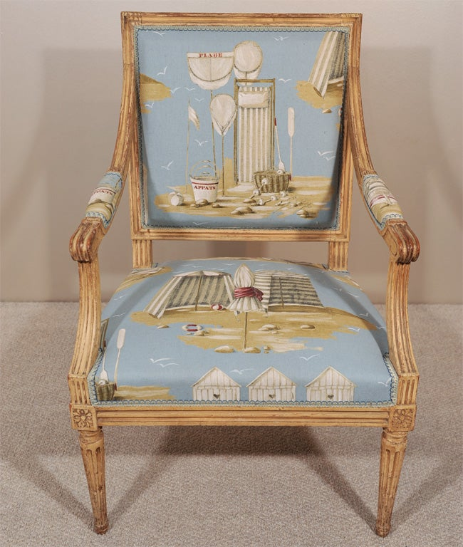 Pair of Louis XVI Style Fauteuils 4