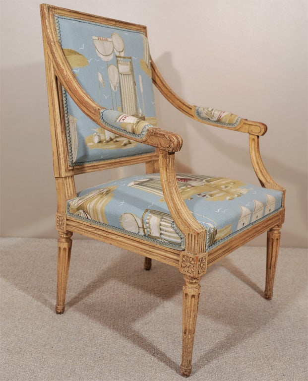 Pair of Louis XVI Style Fauteuils 7